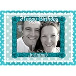 J taime Happy Birthday 3d card in Aqua - Birthday Cake 3D Greeting Card (7x5)