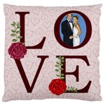 love,memory, happy, fun  - Large Cushion Case (One Side)