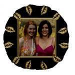Black and Gold 18  Premium Round Cushion - Large 18  Premium Round Cushion