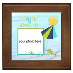 Joyful Summer Framed Tile