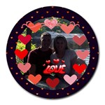 Circle of Love round mousepad
