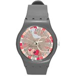 In love watch medium - Round Plastic Sport Watch (M)