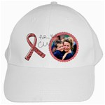 For the Cure, Breast Cancer Awareness- White Cap