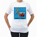 AUTISM CHARITY WALK, AWARENESS-white tshirt - Women s T-Shirt (White) (Two Sided)