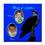 Birds of a feather face towel