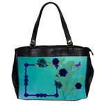 Purple and turquoise handbag - Oversize Office Handbag