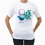 Peacock women t-shirt - Women s T-Shirt (White) (Two Sided)