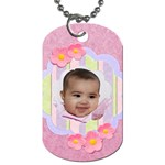candy flowers dog tags - Dog Tag (Two Sides)