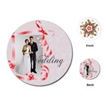 wedding - Playing Cards (Round)