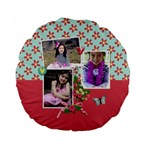 15  Premium Round Cushion : Love Hearts - Standard 15  Premium Round Cushion