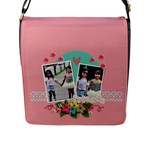Flap Closure Messenger Bag (L)- Friends