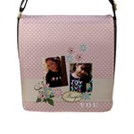 Flap Closure Messenger Bag (L)-Beautiful YOU