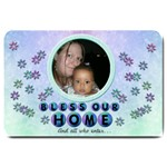 bless our home doormat - Large Doormat