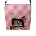 Flap Closure Messenger Bag (L)- Sweet Smiles