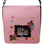 Flap closure messenger bag (Small) - Sweet Smiles - Flap Closure Messenger Bag (S)