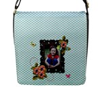 Flap Closure Messenger Bag (L)- Sweet Smiles 2