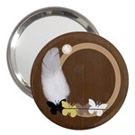 Feather and Butterflies mirror - 3  Handbag Mirror