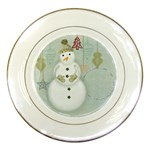 Happy Holiday plate - Porcelain Plate