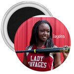 Jaydens button - 3  Magnet