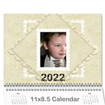 2019 Damask Wedding Calendar  - Wall Calendar 11  x 8.5  (12-Months)