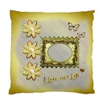 I love our Life gold 242 Wedding 1 cushion case - Standard Cushion Case (One Side)