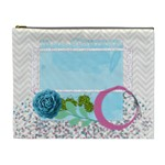 Blue, Pink and Green cosmetic bag XL - Cosmetic Bag (XL)