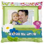 kids, father, family, fun - Large Cushion Case (One Side)