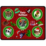 Hatty Holidays large blanket 3 - Fleece Blanket (Large)
