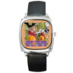 helloween fall - Square Metal Watch