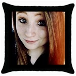 Mallory black pillow - Throw Pillow Case (Black)