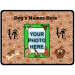 Dog Lover s large blanket #2 - Fleece Blanket (Large)