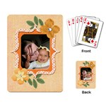 orange cards - Playing Cards Single Design (Rectangle)