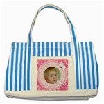 Little angel Striped Blue Tote Bag
