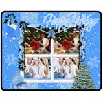MERRY CHRISTMAS - Fleece Blanket (Medium)