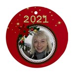 Round Christmas Ornament (2 sided) - Round Ornament (Two Sides)