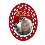 My Christmas Oval Filigree Ornament (2 sided) - Oval Filigree Ornament (Two Sides)