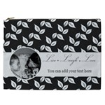 Cosmetic Bag (XXL) - B/W- Live Laugh Love
