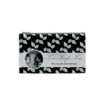 Cosmetic Bag (S) - B/W - Live Laugh Love - Cosmetic Bag (Small)