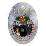 My Oval Christmas ornament (2 sided) - Oval Ornament (Two Sides)