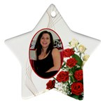 Christmas Rose Star Ornament (2 sided) - Star Ornament (Two Sides)