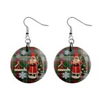 Remember When Santa Christmas no frame righ button earrings - 1  Button Earrings
