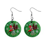 Remember When Elf Christmas no frame button earrings - 1  Button Earrings