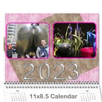 Pink Choc 2019 wall Calendar (any year) - Wall Calendar 11  x 8.5  (12-Months)