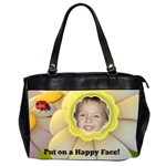Happy face office handbag - Oversize Office Handbag (2 Sides)