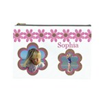 Pink Daisy Cosmetic Bag (Large)
