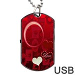 Red Love Dog Tag usb Flash 2 sides - Dog Tag USB Flash (Two Sides)