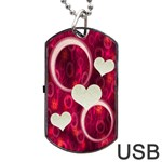 Pink love Dog Tag USB Flash 1 side - Dog Tag USB Flash (One Side)