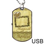 Magical Moment Dog Tag USB Flash 1 side - Dog Tag USB Flash (One Side)