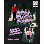 Royals U9 Girls 2013 - Collage 8  x 10