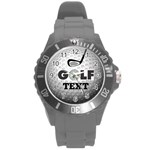 Unisex Golf white sports watch, large - Round Plastic Sport Watch (L)
